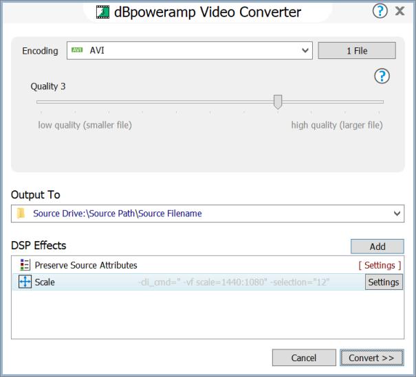 dBpoweramp Video Converter Help