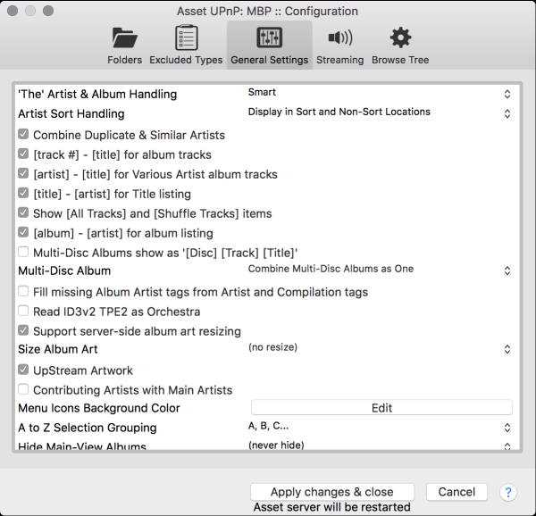 Asset UPnP DLNA OS X Manual
