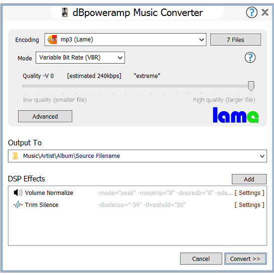 dBpoweramp Music Converter - mp3 converter, FLAC, WAV, AAC & Apple
