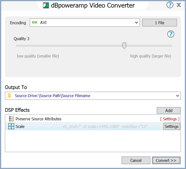 dBpoweramp Video Converter - mp4 (h264, h265), Windows Media Video